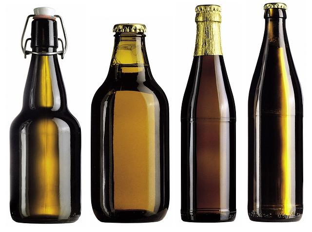 pivní flašky